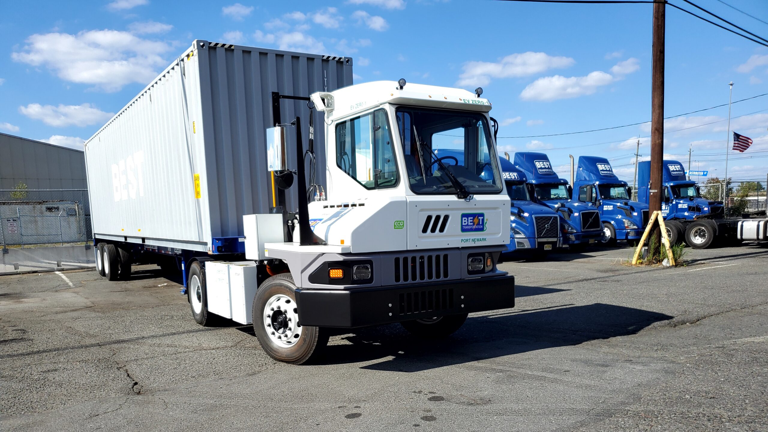 Kalmar Ottawa delivered two new electric terminal tractors to Best Transportation